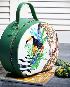 "Handmade Ledertasche ""Jungle"""