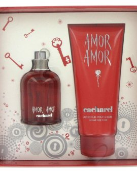 Amor Amor by Cacharel - Gift Set - 100 ml EdT + 200 ml Body Lotion